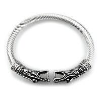 ARMREIF VIKING EDELSTAHL Fenris Wolf Odin Wikinger Mittelalter Schmuck Armband