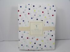 Pottery Barn Organic Percale Multi Color Mini Star Sheet Set Full #6626