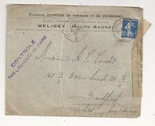 France censored WW I to UK 1915