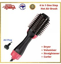 4 in 1 One Step Hair Dryer Comb and Volumizer Pro Brush Straightener Curler
