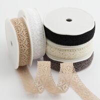 25mm Cotton Lace Ribbon Trim - Vintage Shabby Chic Wedding Crafts