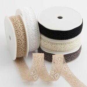 25mm Cotton Lace Ribbon Trim - Vintage Shabby Chic Wedding Crafts
