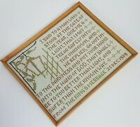 Vintage Completed Cross Stitch King George VI Christmas Message Speech 1939