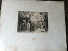 Antique France 1853 Etching Flameng A Cadart Orig Seal Office Newspaper Journal