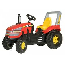 Rolly Toys X-Trac Traktor ohne Frontlader Trettraktor mit Überrollbügel rot