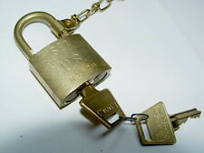 Pad Lock American Lock Usa Solid Brass New With 9 Inch Brass Chain Us M362b