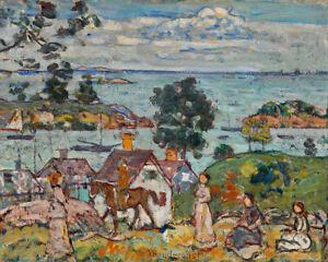 Gloucester Harbor by Maurice Brazil Prendergast 60cm x 48cm Art Paper Print