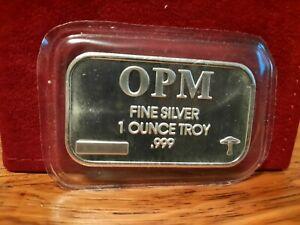 1 OZ OPM PRECIOUS METALS SEALED .999 FINE SILVER BAR