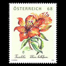 Austria 2016 - Loyalty Stamp Flowers Fire Lily Flora - MNH
