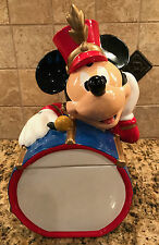 Vintage! MICKEY MOUSE Marching Band Drummer COOKIE JAR Disney Ceramic Kitchen