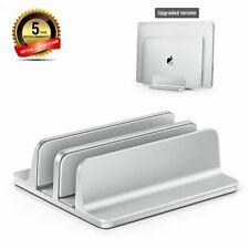 Double slot Vertical Stand mount Holder for MacBook/laptop/chromebook/tablet