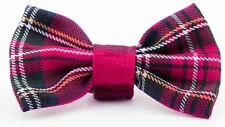 PINK TARTAN NERD GEEK GLASSES SQUAD SCHOOL GIRL BOW TIE SET FANCY DRESS COSTUME