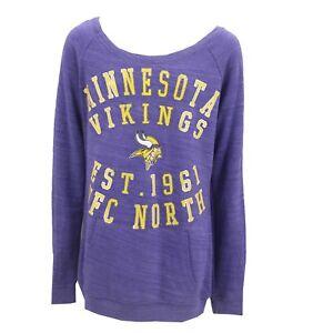 Minnesota Vikings Official NFL Apparel Juniors Teens Girls Size Light Sweatshirt