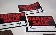 Garage SALE Signs Yard Sale Plastic Set of 3 from Home Depot Black Red Used