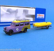 Roco H0 1721 LAND ROVER mit Schlauch-Boot-Anhänger Geländewagen OVP HO 1:87