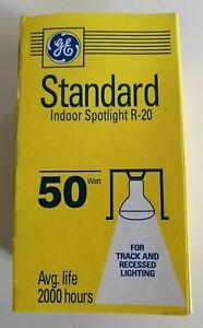 GE Standard Indoor Spotlight R-20 50W Lot of 6