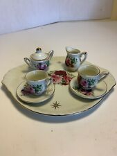 Mini Rose Tea Set Chintz By Baum Bros Preowned