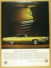 1967 Cadillac Sedan DeVille color car photo vintage print Ad