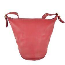COACH XL LRG Vintage Red Duffle Sac Bucket Feedbag #9085