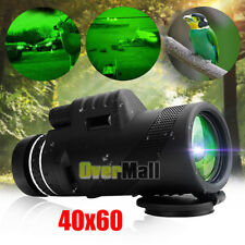 Super High Power 40X60 Portable HD OPTICS Dimly Night Vision Monocular Telescope