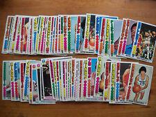 1976-77 TOPPS BASKETBALL STARTER SET VG-EX CONDITION 66 CARDS