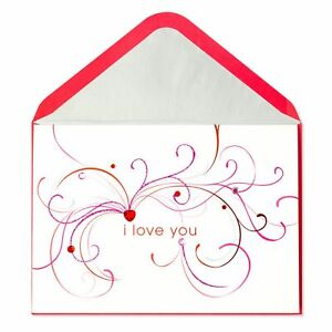 Beautiful PAPYRUS Valentine's Day Card - I Love You - Flourishes & Gems