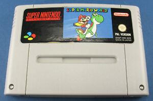 Super Nintendo Spiel - Super Mario World - Modul - PAL - SNES