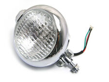 Custom Chrome Metal Bates Style Motorbike Headlight For Harley Chopper Project