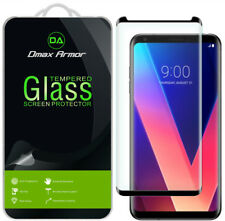 Dmax Armor-LG V35 ThinQ Tempered Glass Screen Protector Saver (Full Cover)