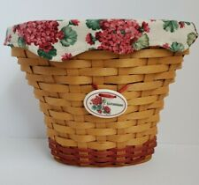 2002 Longaberger Collectible Geranium Basket & Insert Signed Bonnie Longaberger