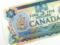 1979 Canada 5 Dollar Uncirculated Canadian Lawson Bouey Banknote Five M827