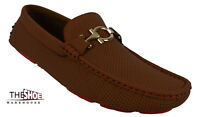 Men's Giovanni Casual Shoes Driving Moccasin Formal Slip On Dress Camel M788-29