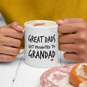 GREAT DADS GET PROMOTED TO GRANDAD FAMILY MUG COASTER FREE P&P CHRISTMAS