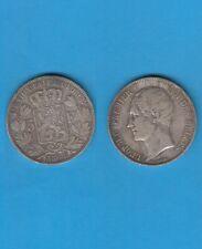 Belgique Léopold Premier 5 Francs en argent de 1865  Silver coin Exemplaire N° 2