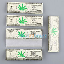 Dollar King Size 107*55mm Ultra Thin Slim Smoking Rolling Papers 5 Booklets