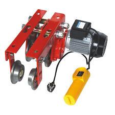 Elektrische Laufkatze Fahrwerk für Seilwinde bis 1.000kg Seilzug Hebe Kran Winde