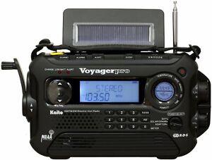 New KA600 Voyager Pro Solar Weather Alert Multiband Radio w/RDS! Quick Free Ship