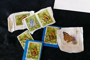 7 butterflies commemorative UK British postage stamps philately philatelic