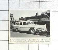 1960 Track Inspection In Comfort Fairmont Hydrail Car Pontiac Chieftain