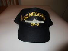 USS Enterprise CV 6 US NAVY Ball Cap Adjustable Snap Back USA Made Eagle  Crest 1acfdbd5ae01