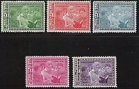 Guinea- Scott 336-339, C6- Eleanor Roosevelt reading- complete set- 5 MNH