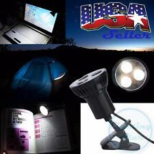 1x 3 LED USB Plug Clip-on Lamp Reading Light For Laptop PC Camping Tent Desk Bed