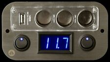 Campervan Switches Voltmeter USB Cigarette socket 12V Panel