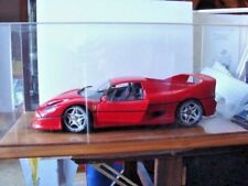TAMIYA 1:12 FERRARI F-50 MOUNTED ON A WALNUT BASE WITH PLEXGLAS COVER