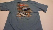 VINTAGE 60'S CAMARO AND NOVA YOUNG MEN OR MEN BLUE XL SS 2-SIDE SHIRT NEW W/TAG