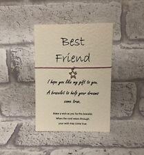 Wish Bracelet Message Tibetan Charm Card Birthday, Best Friend, Mum, Sister Gift