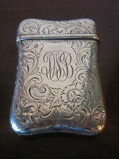Antique Sterling Match Safe w/ Floral Decoration Unidentified Hallmark SAE ??