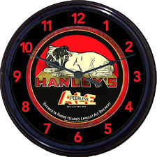 Hanleys Peerless Ale Bulldog Providence RI Beer Tray Wall Clock Brew Man Cave