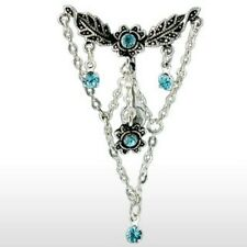 Navel Belly Ring with Top-Dn Chandelier Line