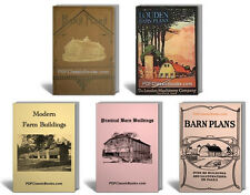 Ultimate Barn Plans Farm Building Design Cattle Poultry House Stables Books ~CD